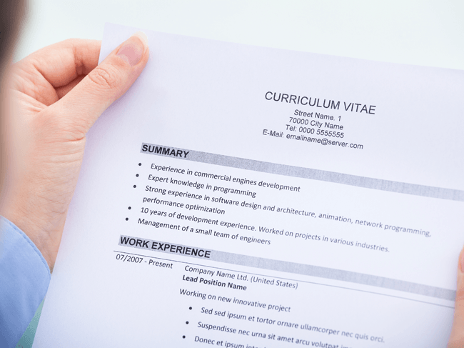 4 suggerimenti per un miglior CV!